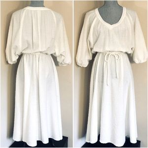Vtg Dolman Sleeve Dress
